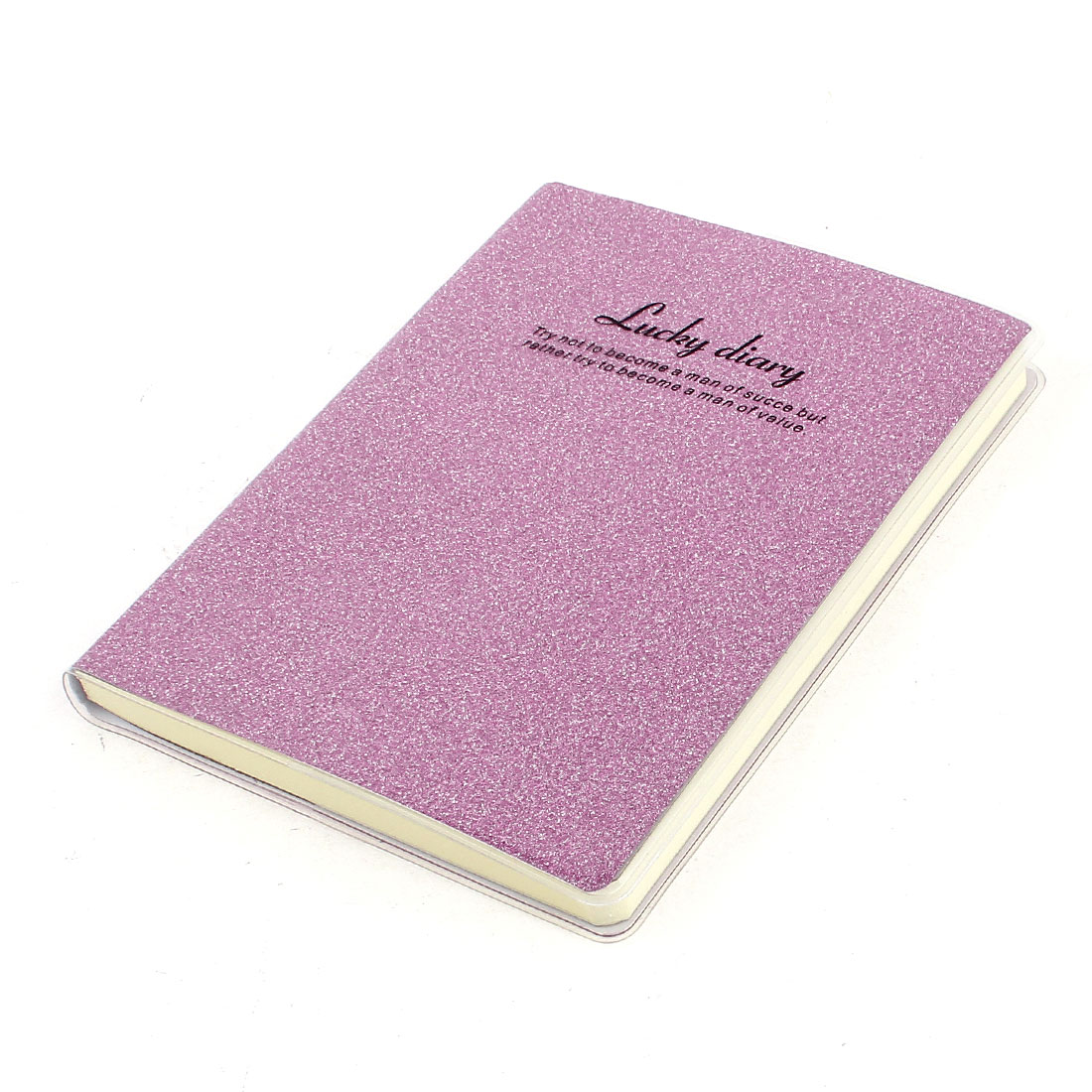 PVC Cover Pink Glitter Powder Decor Diary Memo Book Notepad 80 Sheets