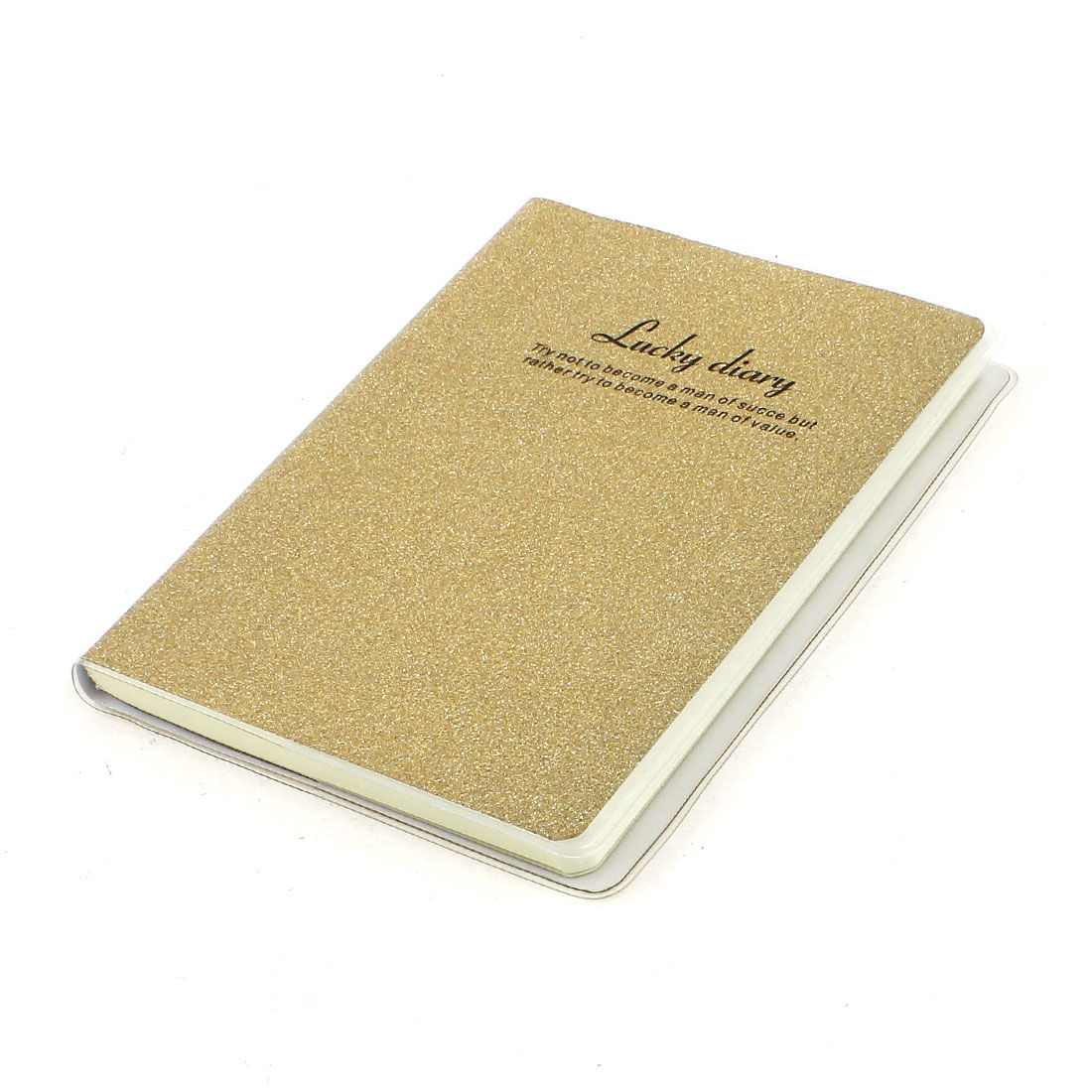 PVC Cover Gold Tone Glitter Powder Decor Diary Memo Book Notepad 80 Sheets