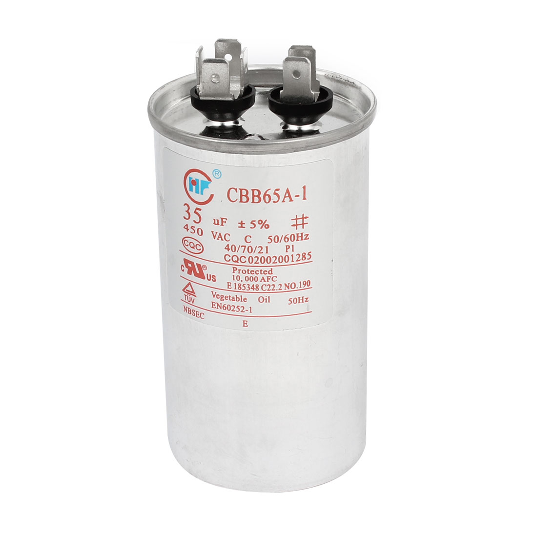 CBB65A-1 AC450V 35uF 5% 50/60Hz Polypropylene Film Non Polar Motor Run Capacitor for Air Conditioner