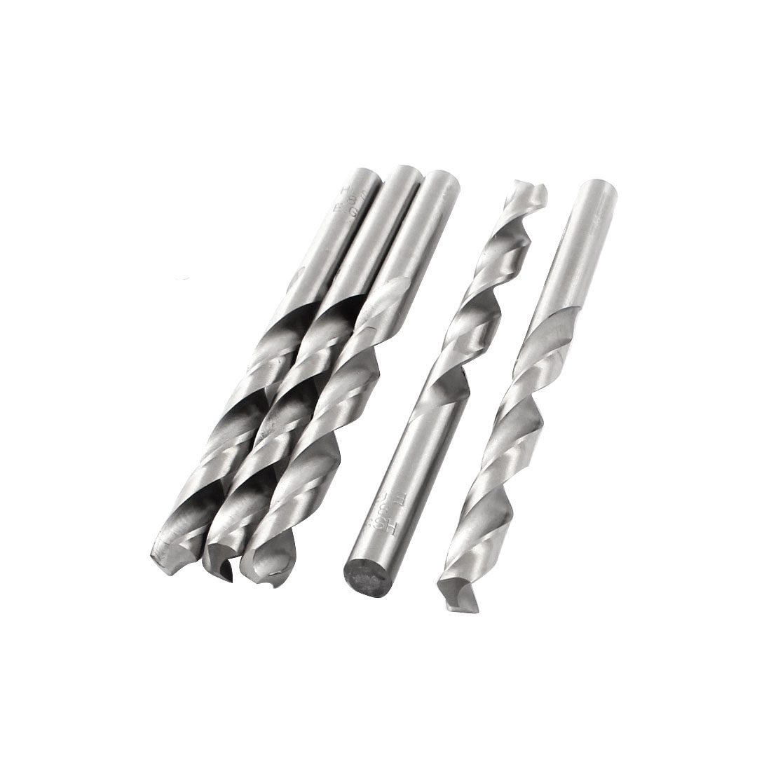 HSS Straight Shank 8mm Twist Head 115mm Long Drill Bit Silver Tone 5PCS