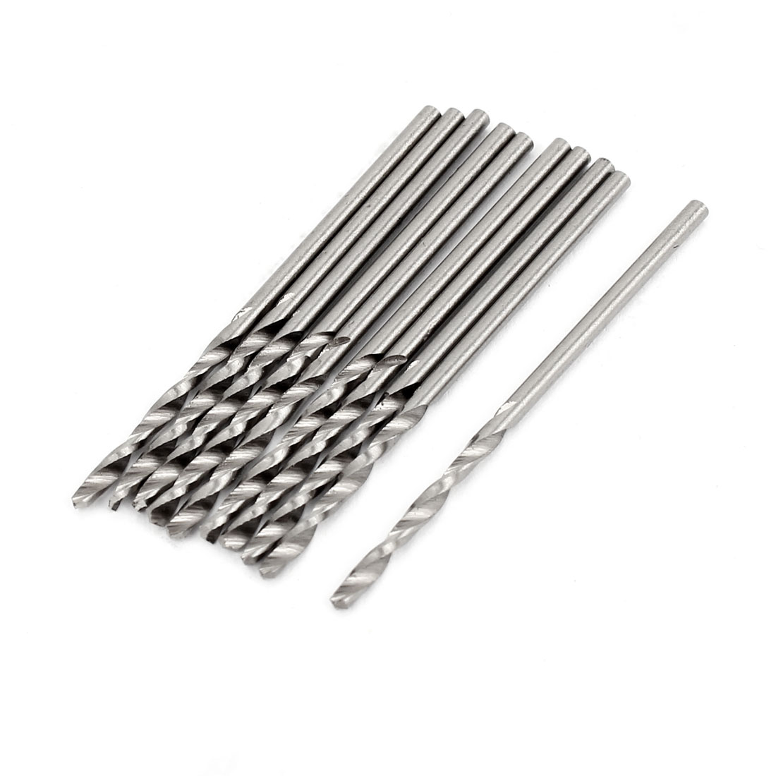 10 Pcs 17mm Length Flute 1.3mm Dia Metal Marble HSS Twist Drilling Drill Bit