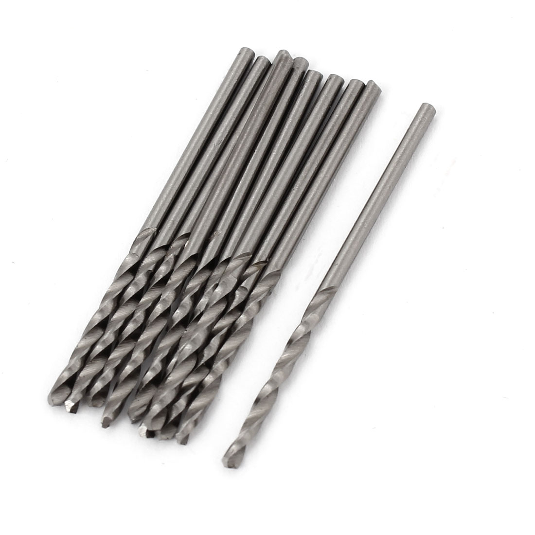 10 Pcs 20mm Length Flute 1.6mm Dia Metal Marble HSS Twist Drilling Drill Bit