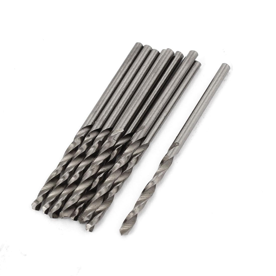 10 Pcs 25mm Length Flute 2.1mm Dia Metal Marble HSS Twist Drilling Drill Bit