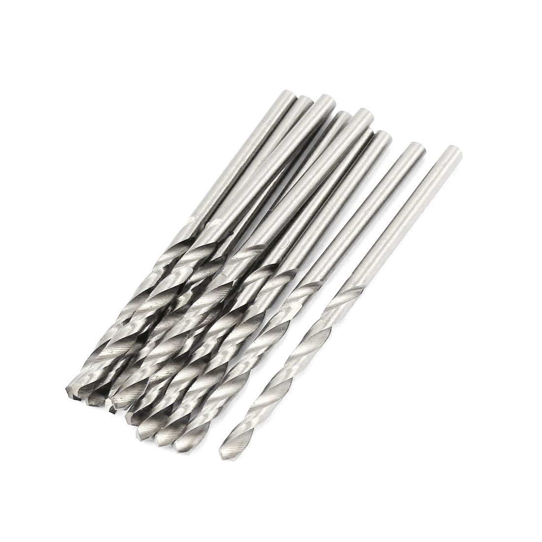 10 Pcs 32mm Length Flute 2.5mm Dia Metal Marble HSS Twist Drilling Drill Bit