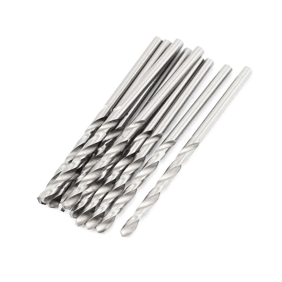 10 Pcs 31mm Length Flute 2.6mm Dia Metal Marble HSS Twist Drilling Drill Bit