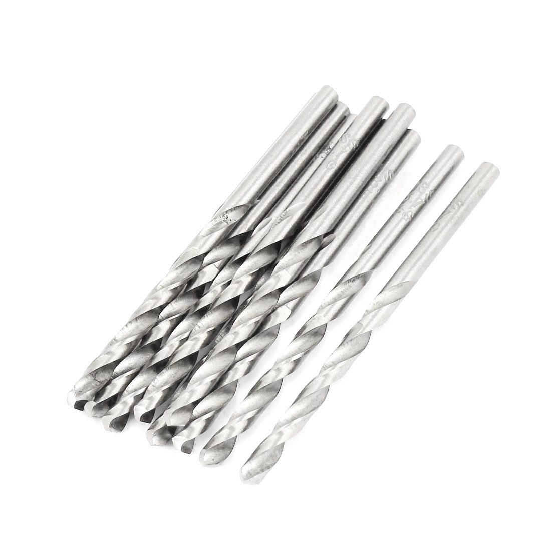 10 Pcs 47mm Length Flute 3.6mm Dia Metal Marble HSS Twist Drilling Drill Bit
