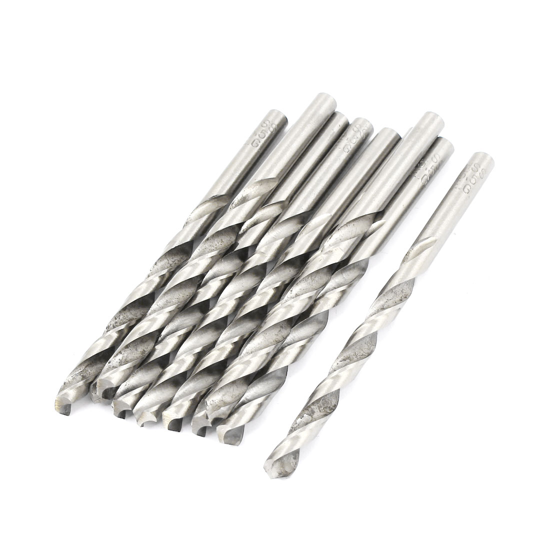 10 Pcs 59mm Length Flute 5.2mm Dia Metal Marble HSS Twist Drilling Drill Bit