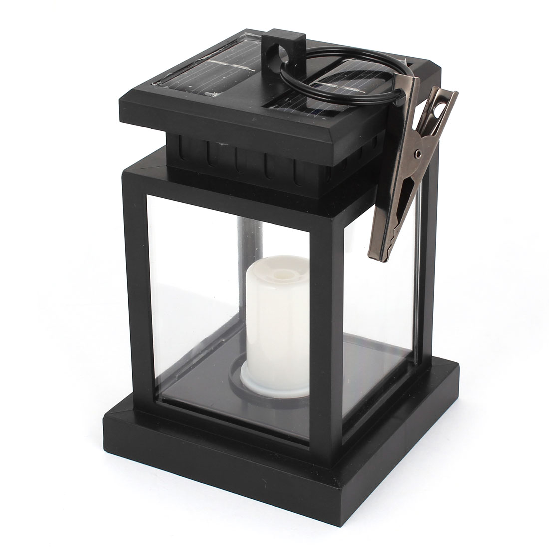 Outdoor Garden Solar Powered LED Candle Table Lantern Hanging Light Lamp