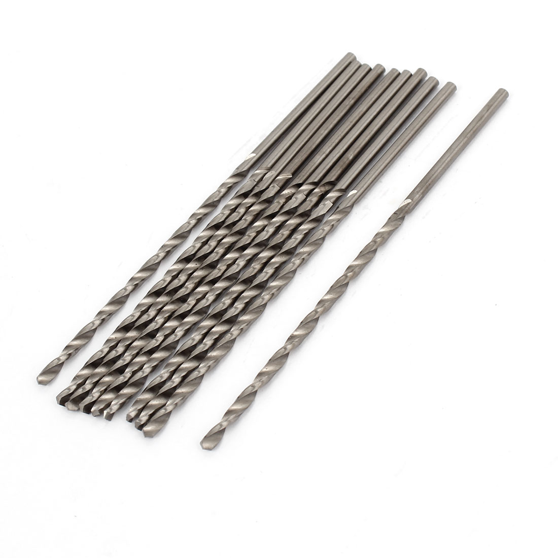 65mm Flute Length 2.2mm Tip HSS Straight Shank Drilling Twist Bit 10pcs