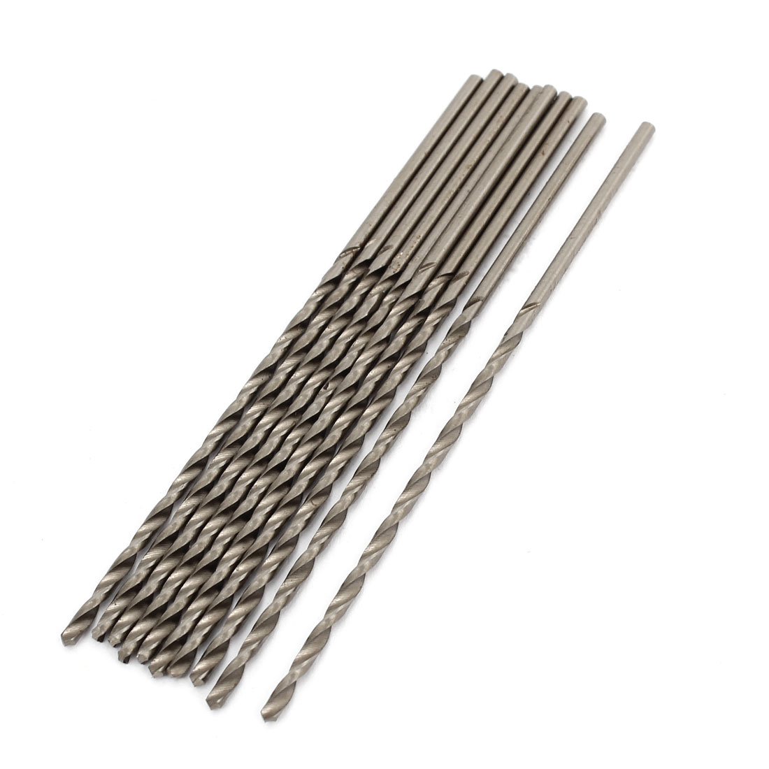 HSS 1.6mm x 50mm Tip Straight Shank Twist Electric Drill Drilling Bit 10 Pcs