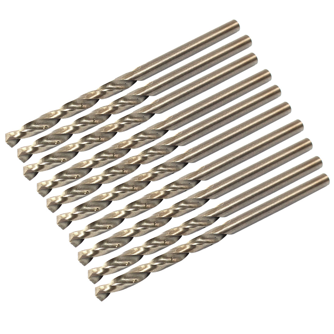 3.3mm Dia 35mm Flute Long High Speed Steel Cobalt Spiral Twist Drill Bit 10pcs