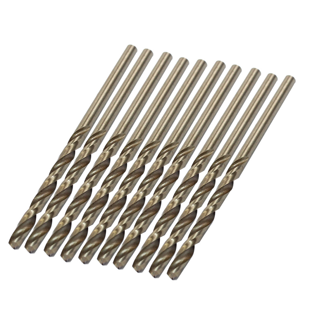 10 Pcs HSS-CO 2.9mm x 35mm Tip Straight Shank Electric Twist Drilling Bit
