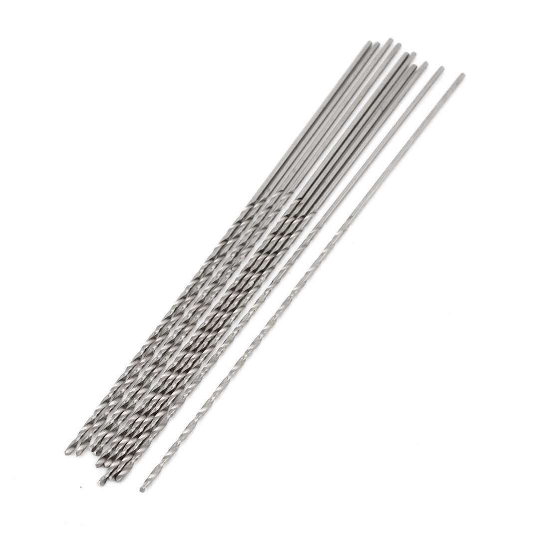 High Speed Steel 1mm x 60mm Tip Straight Shank Twist Drill Bit 10pcs