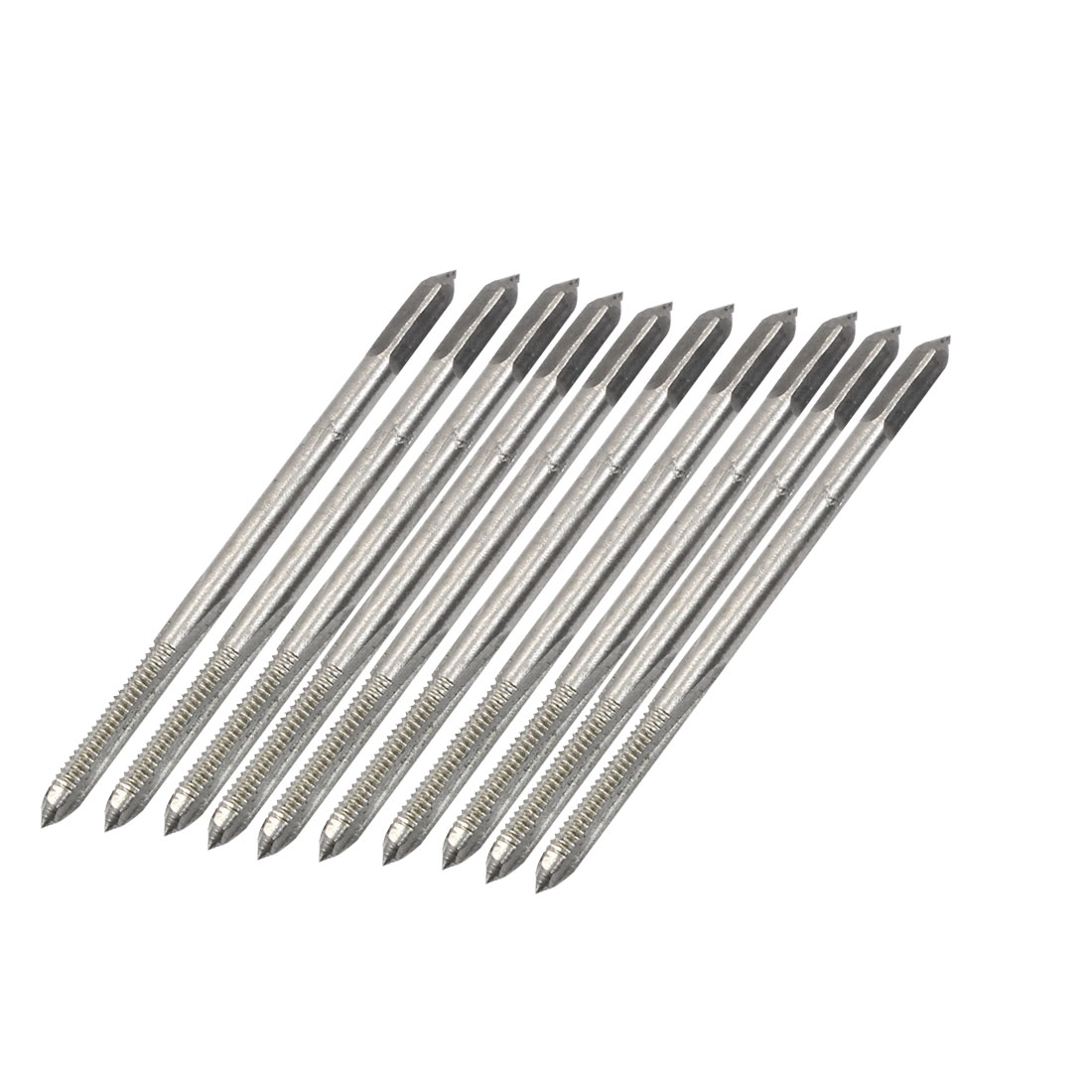 10pcs Round Shank HSS M2.5 2.5mm Threaded Straight Flutes Machine Plug Taps