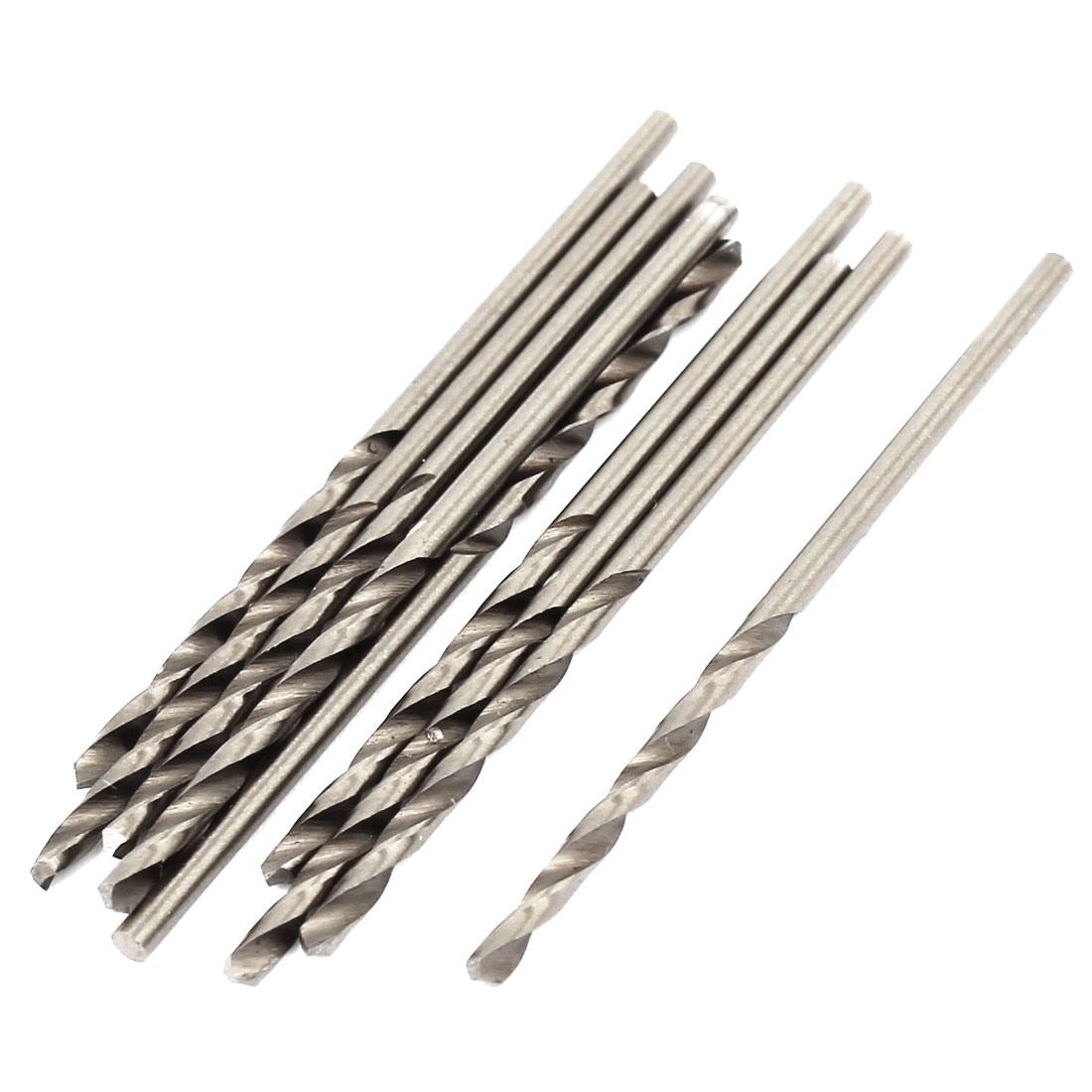 Cobalt High Speed Steel 1.8mmx25mm Tip Straight Shank Twist Drill Bit 10 Pcs