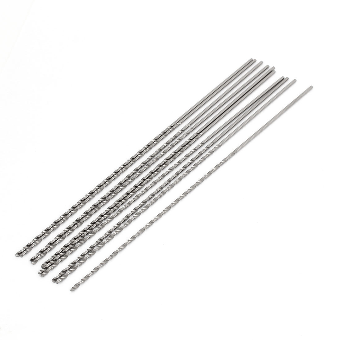 10 Pcs Straight Shank 95mm Flute Long 1.5mm Dia Electric Drill Twist Bit