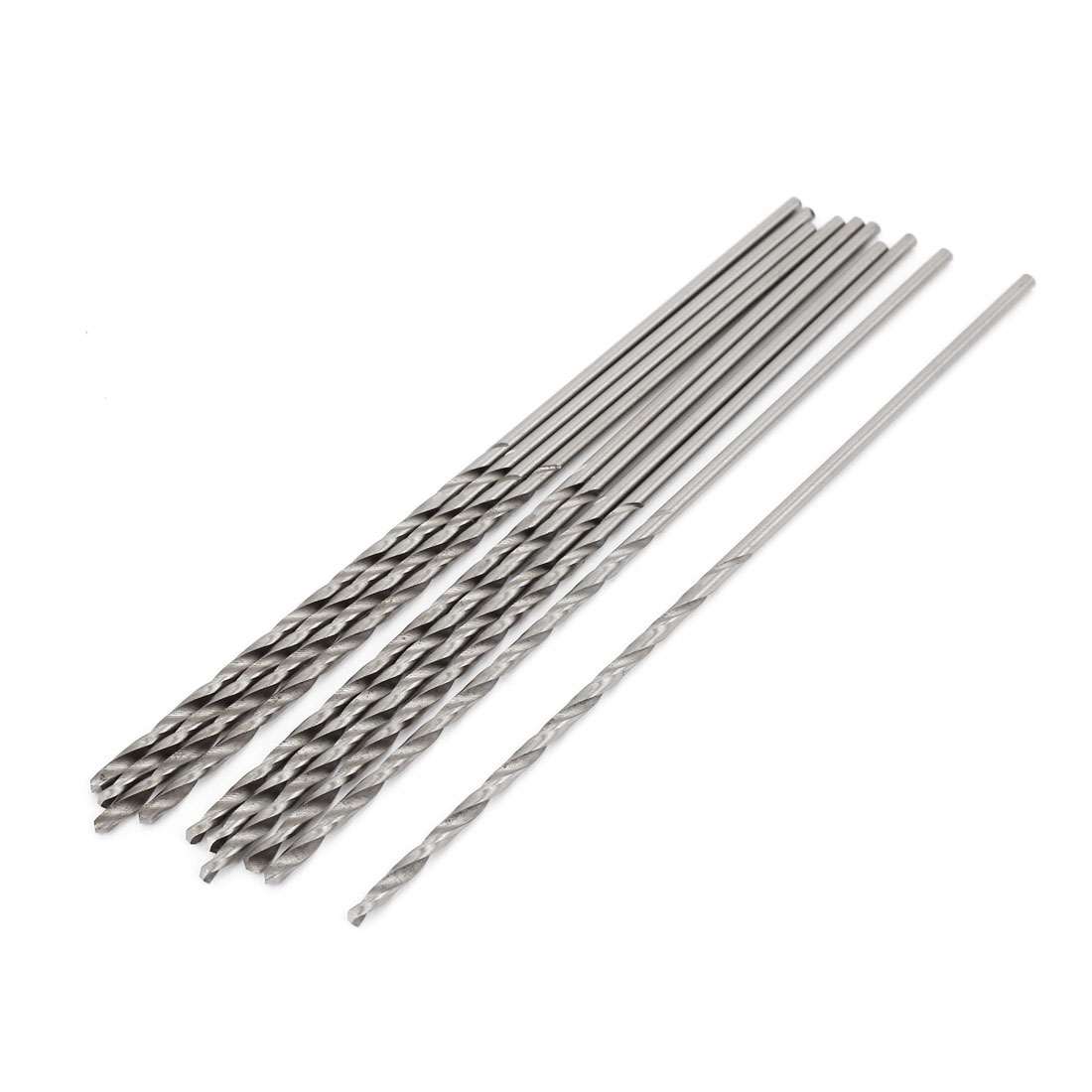 High Speed Steel 2.5mm x 80mm Tip Straight Shank Twist Drill Bit 10 Pcs