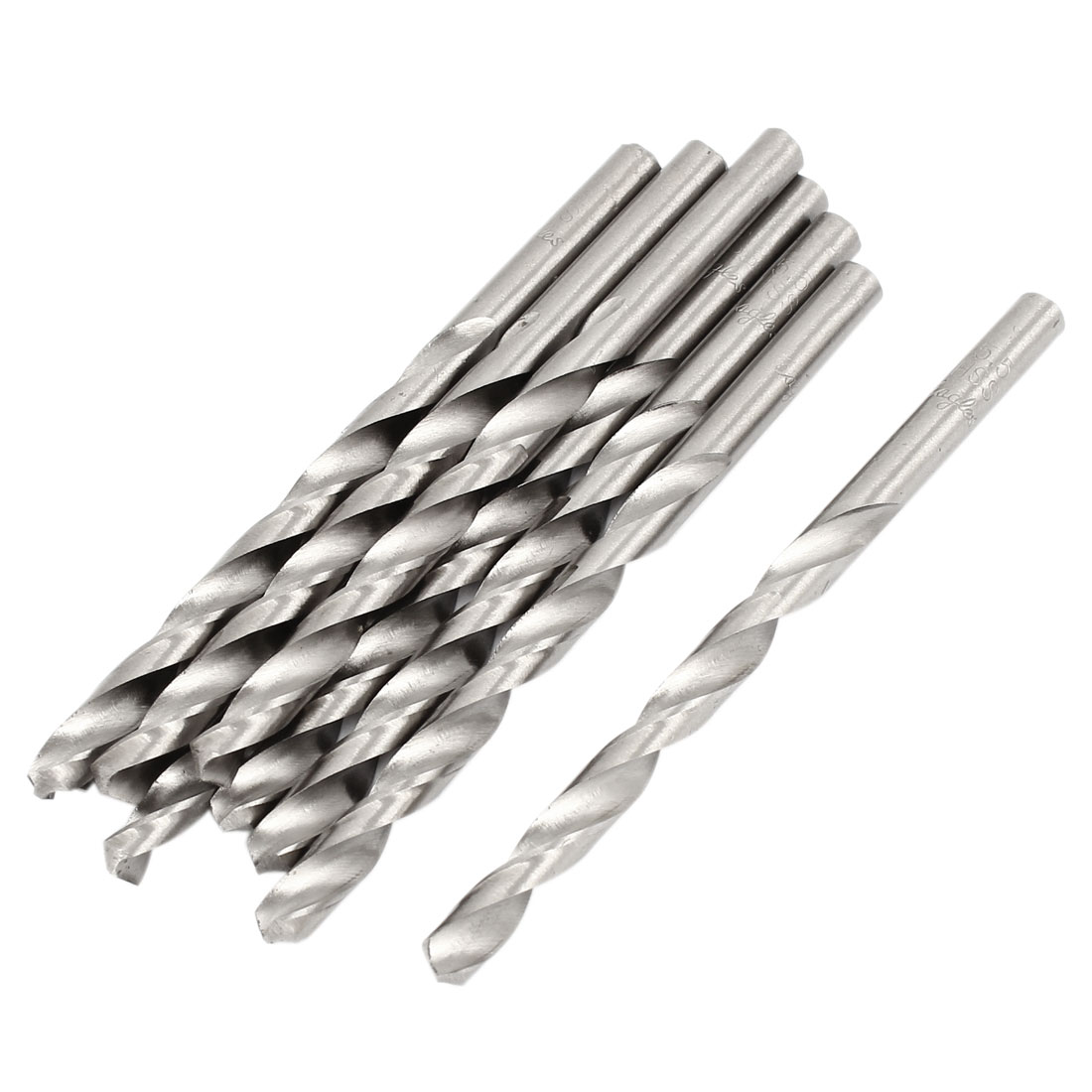HSS 5.5mm x 65mm Tip Straight Shank Twist Electric Drill Drilling Bit 10 Pcs