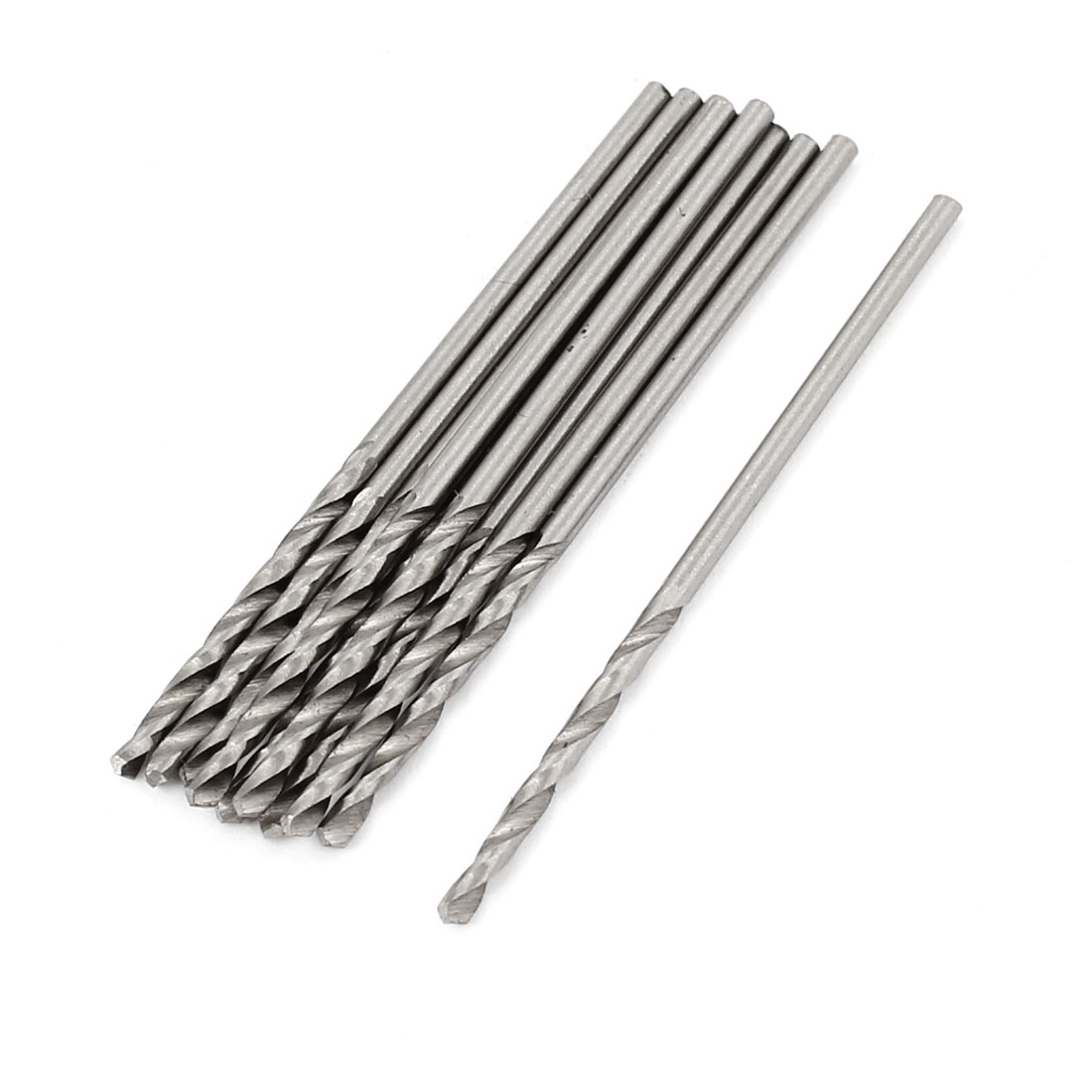 High Speed Steel 1.6mmx20mm Straight Shank 2 Flutes Twist Drilling Bit 10 Pcs
