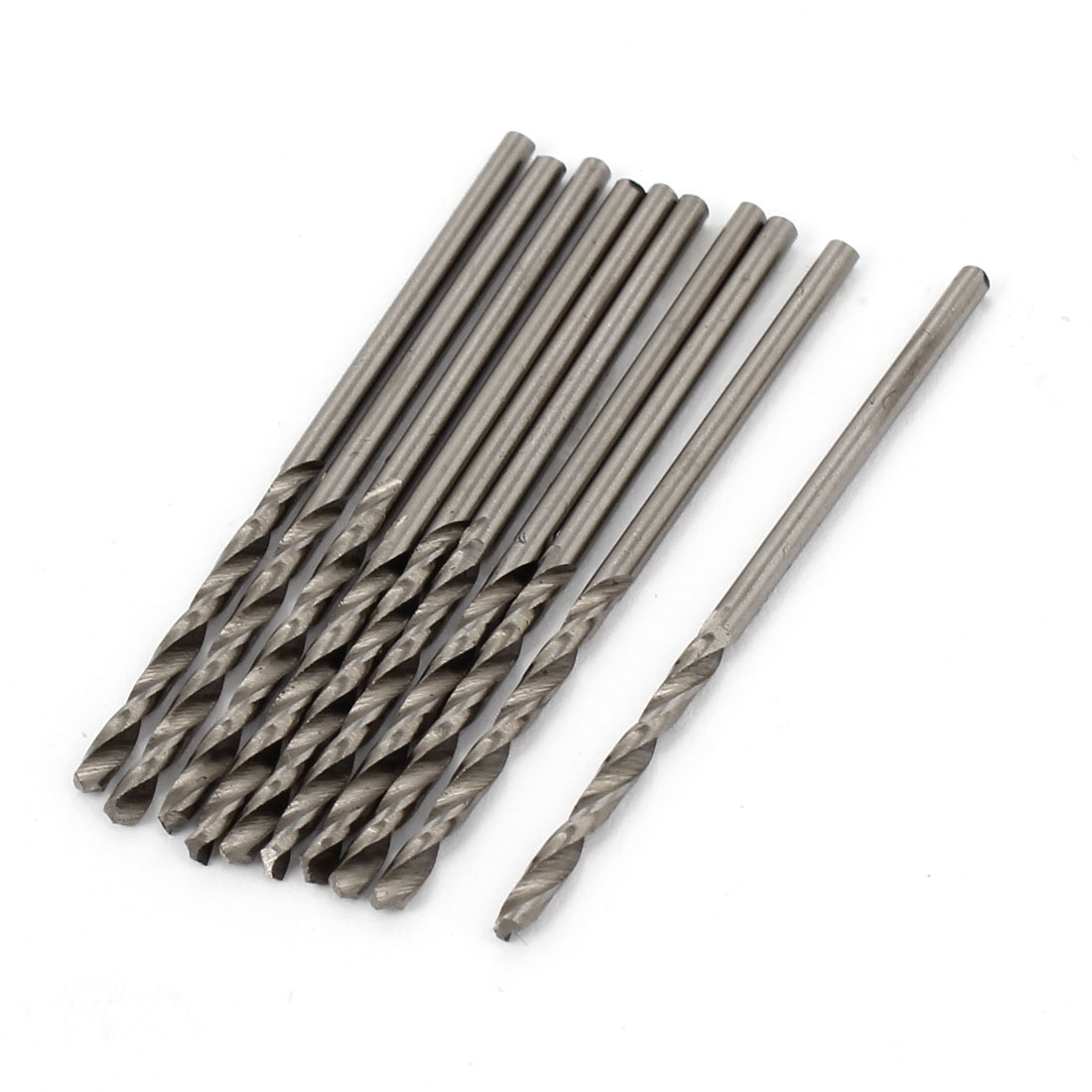10 Pcs Straight Shank 25mm Flute Long 1.9mm Dia Electric Drill Twist Bit