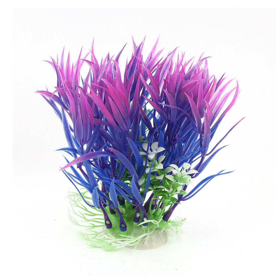 "5.1"" High Blue Fuchsia Plastic Artificial Aquatic Plant for Aquarium Fish Tank"