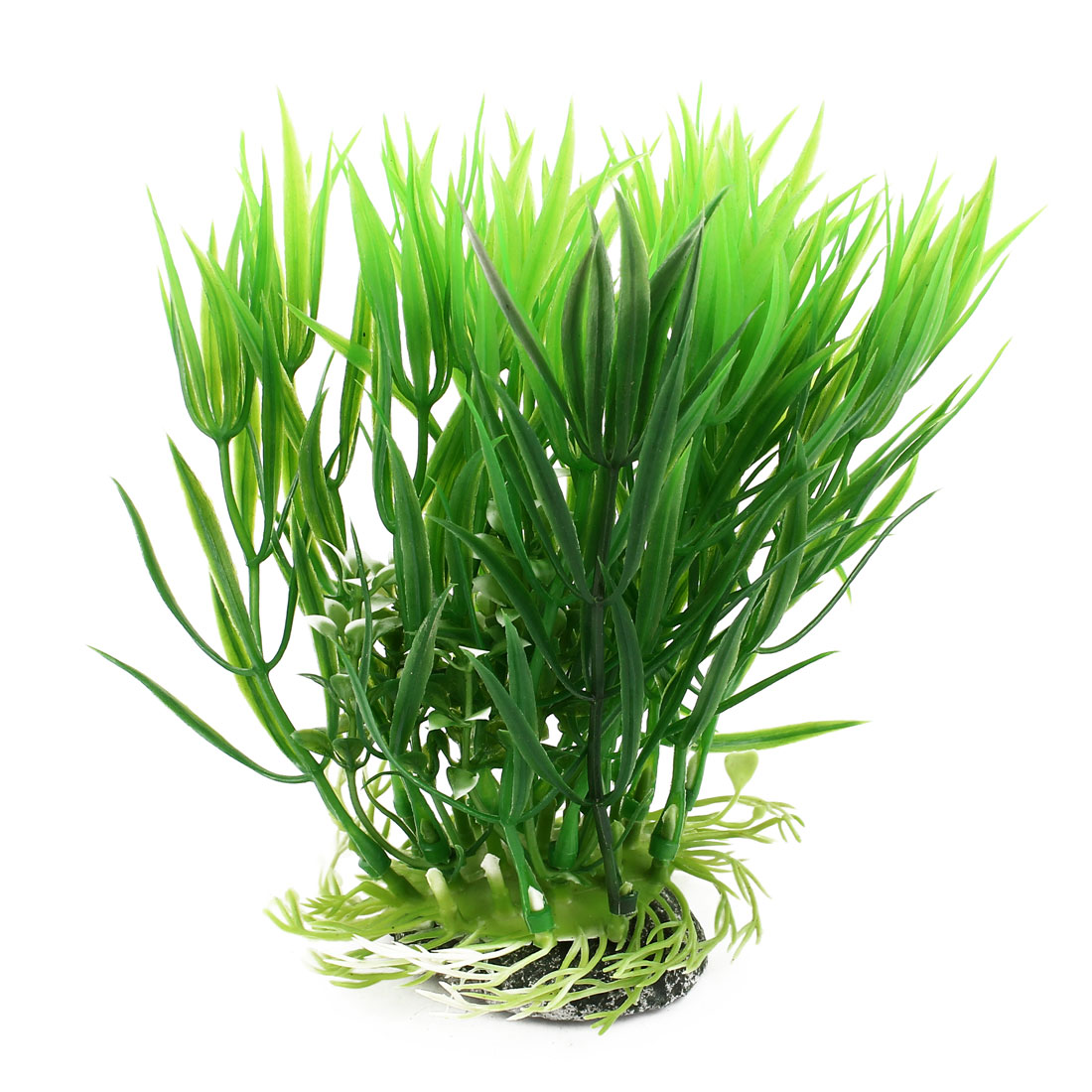 "5.5"" High Green Artificial Aquatic Grass Flower Decoration for Fish Tank Aquarium"