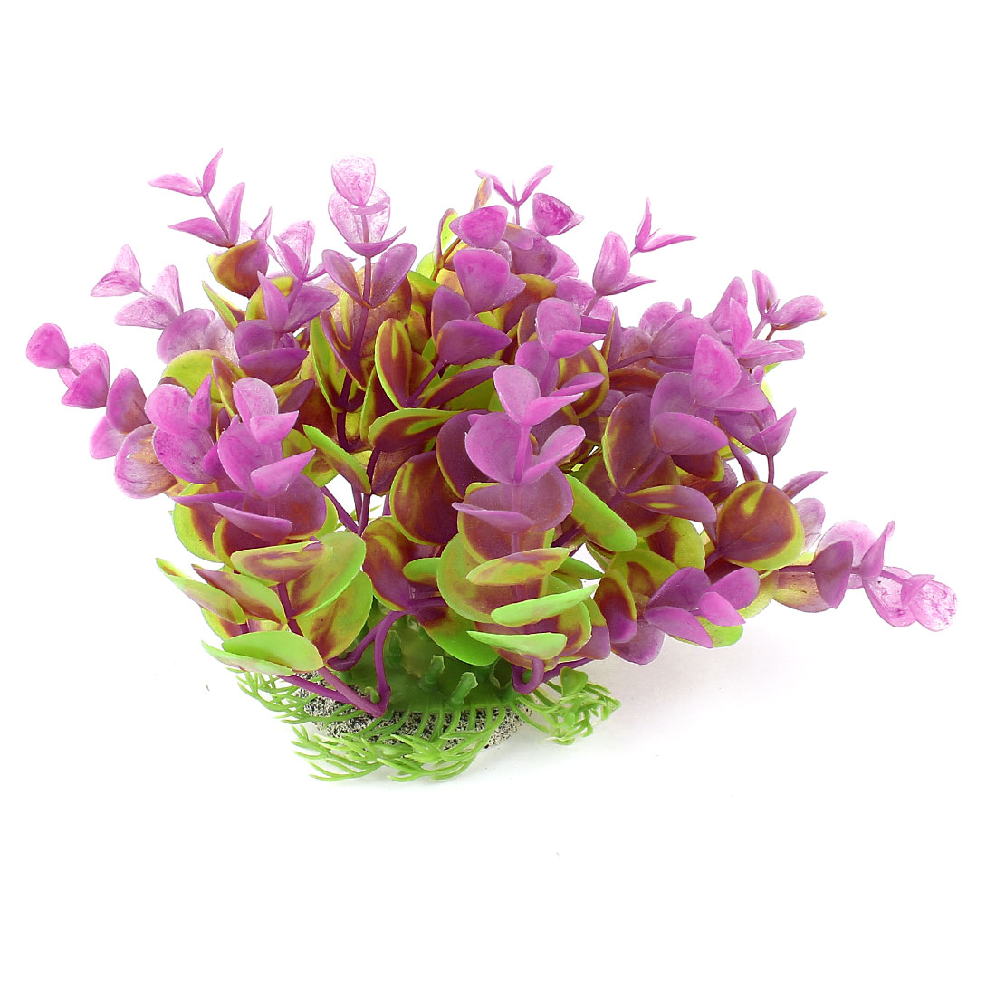 11cm High Green Fuchsia Artificial Flower Grass Water Plant Decor for Aquarium