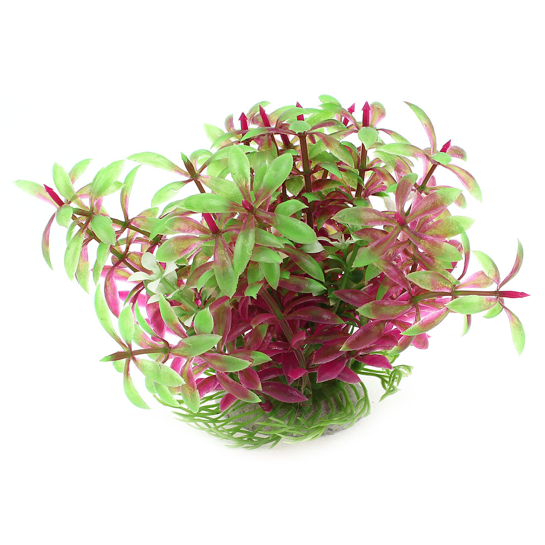 "4"" High Green Fuchsia Plastic Artificial Water Grass Adorn for Aquarium"