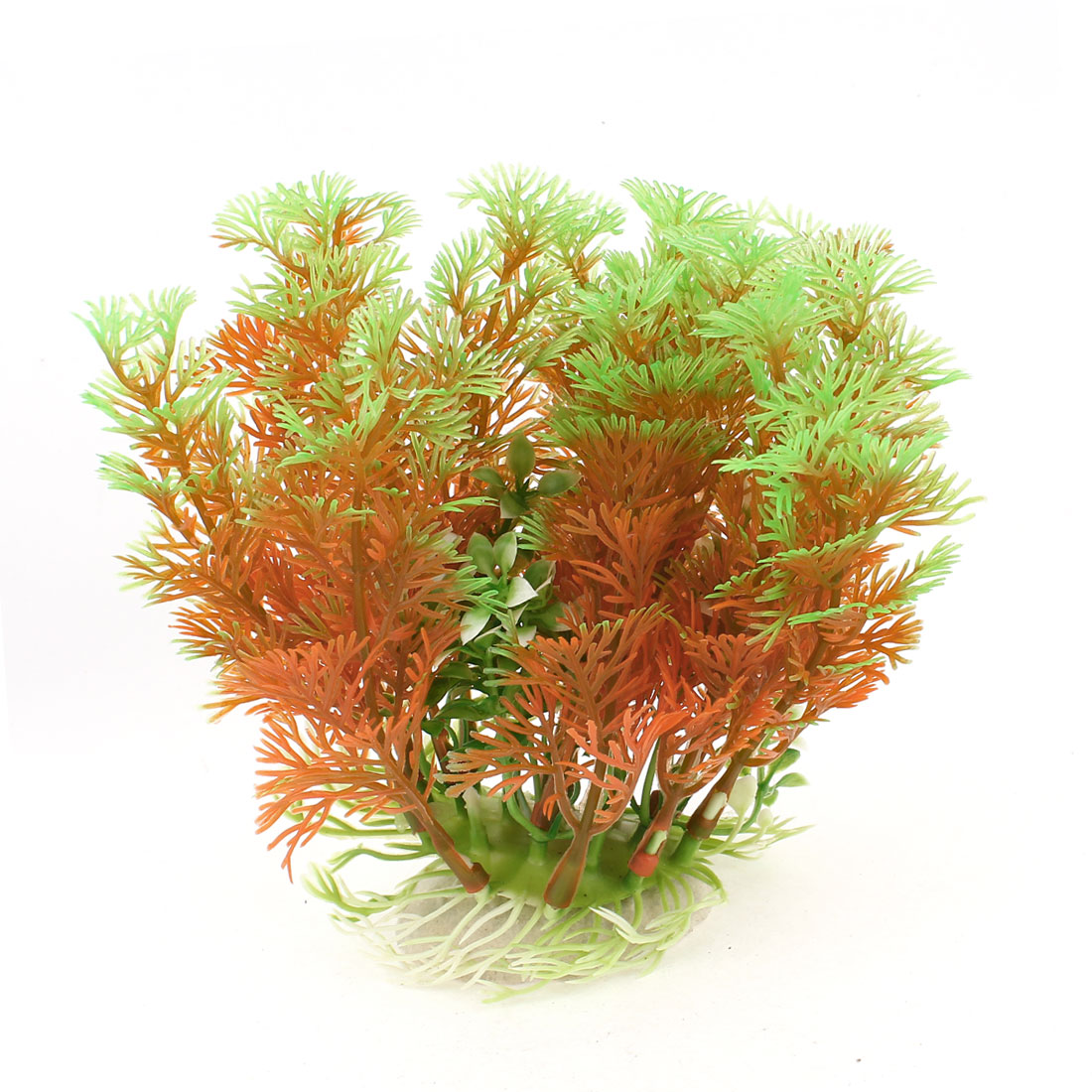 "5.1"" Height Artificial Plastic Orange Green Pine Tree for Aquarium"
