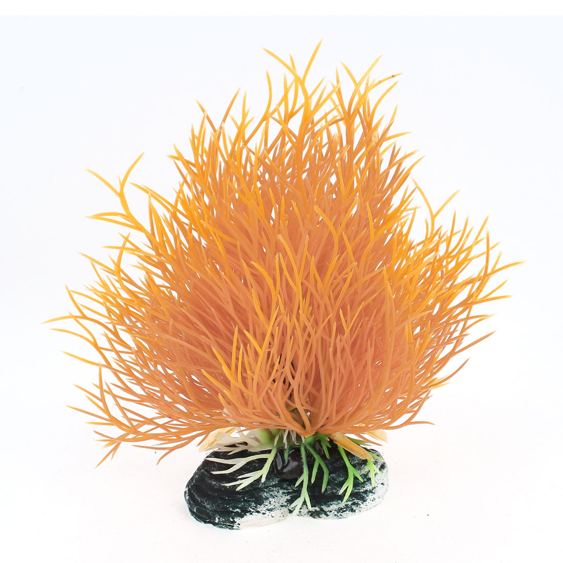 11cm High Artificial Orange Water Grass Decoration for Fish Tank