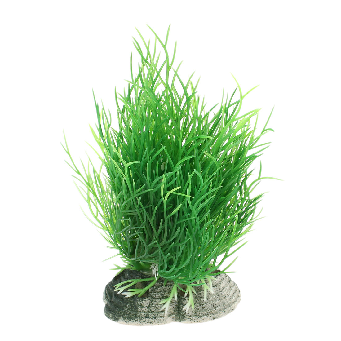 "4.3"" Height Artificial Plastic Green Water Plant Decor for Aquarium"