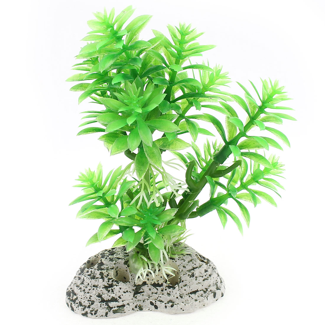 12cm Height Artificial Plastic Green Grass Plant for Fish Tank
