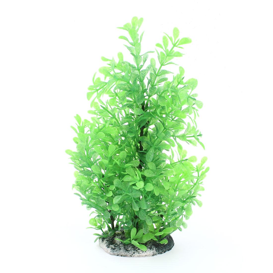 "11"" High Green Plastic Artificial Tree Water Plant Decor for Aquarium"