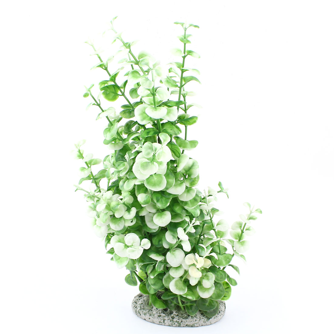 30cm High Green White Artificial Tree Water Plant Accent for Fish Tank