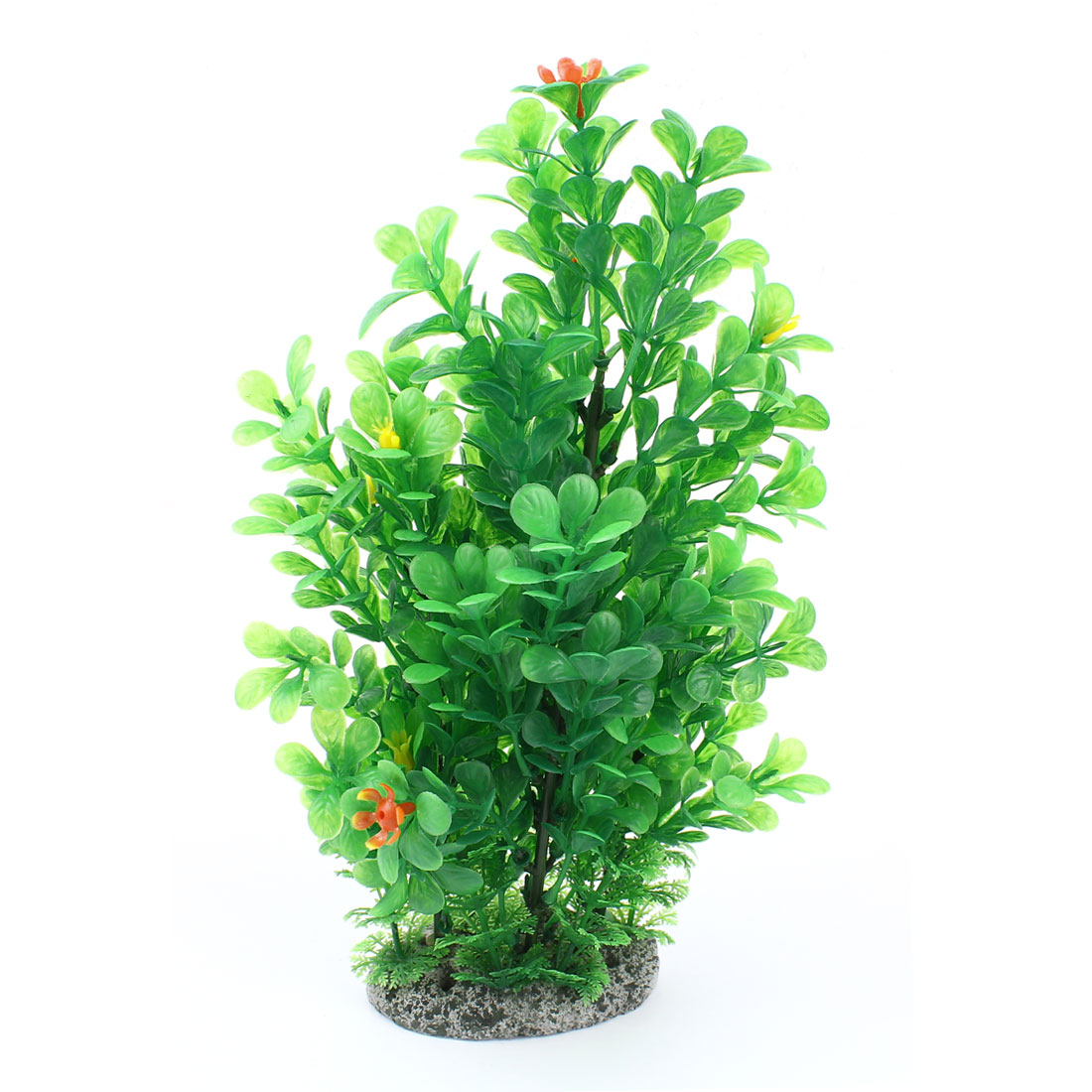 "Fish Tank Accent Green Artificial Flowers Tree Water Plant 12"" High"