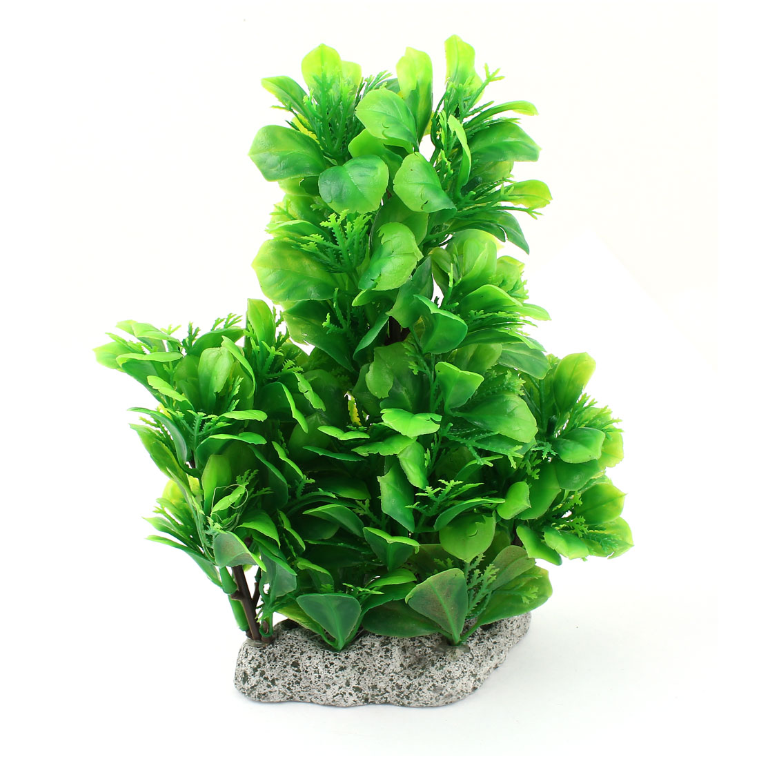 22cm High Green Artificial Plastic Water Plants Ornament for Fish Tank Aquarium