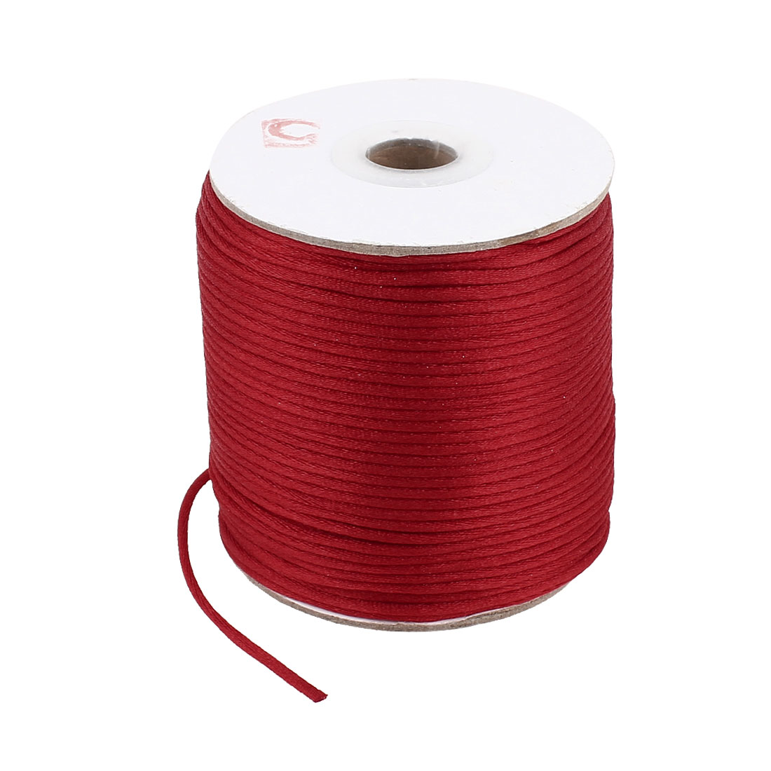 Red Nylon Handcraft Art Line DIY Chinese Knot Rattail Cord