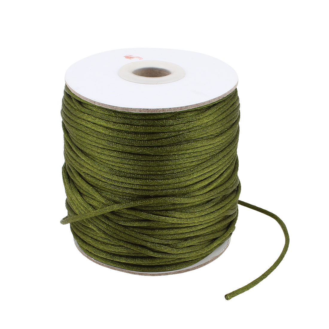 Green Nylon Handcraft Art Line DIY Chinese Knot Rattail Cord