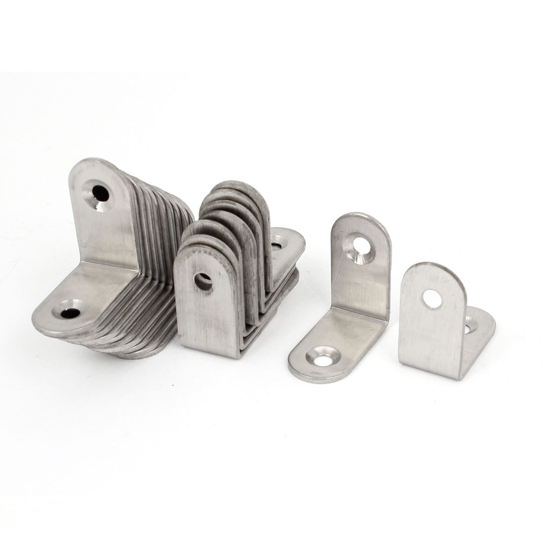 20 Pcs 30mmx30mm Stainless Steel Shelf Support Corner Brace Joint Right Angle Bracket