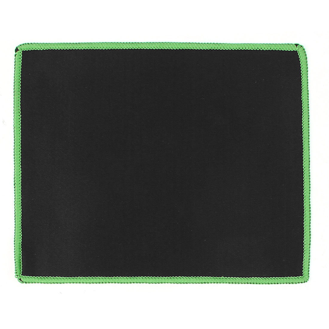 Black Green 25x21cm Rectangle Nonslip Neoprene Desktop Gaming Mouse Pad Mice Mat