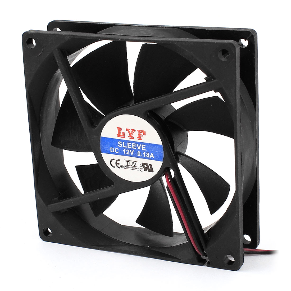 DC 24V 0.18A 92mmx25mm Sleeve Bearing Computer Case CPU Cooler Cooling Fan Black