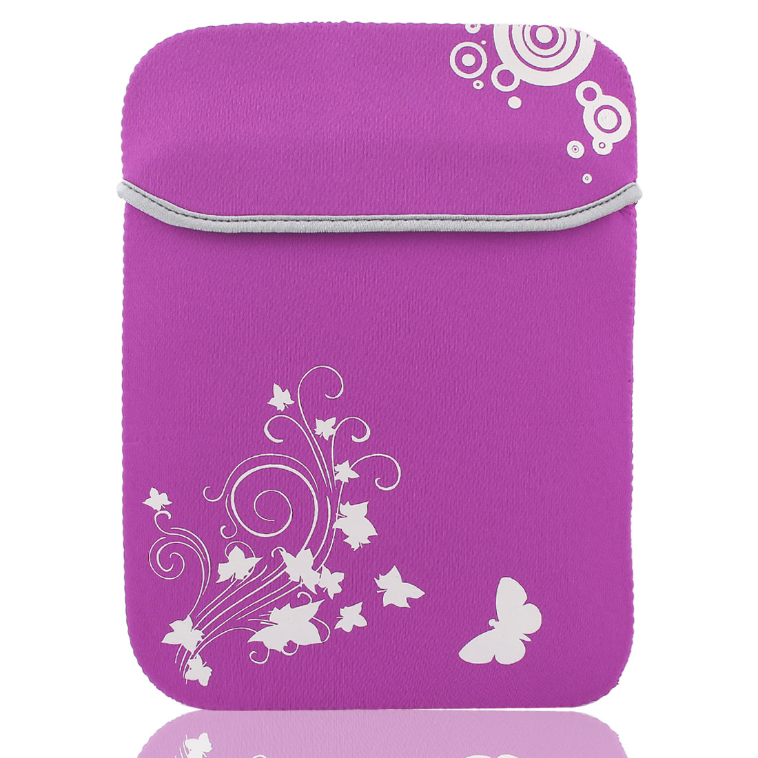 "13"" Flower Butterfly Print Soft PC Laptop Tablet Netbook Sleeve Case Bag Fuchsia"