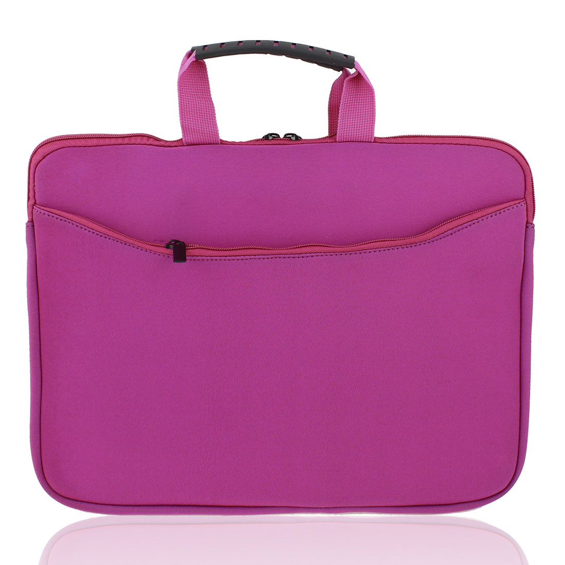 "14"" Neoprene Laptop Netbook Notebook Zipper Sleeve Case Bag Cover Pouch Fuchsia"