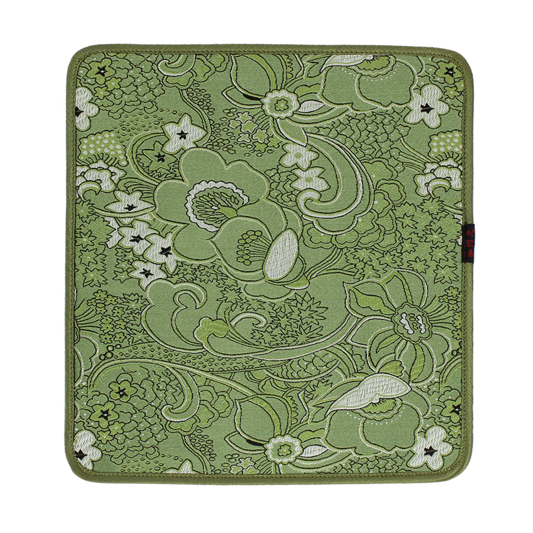 24cm x 21cm Light Green Nonslip Silicone Desktop Computer Mouse Pad Mat