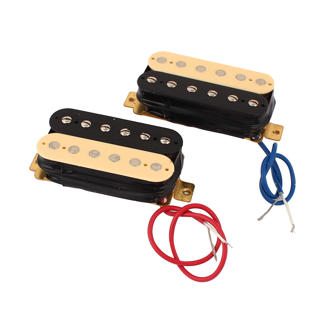"2 Pcs 7.8"" Wired 2 Row Neck Bridge Humbucker ST Guitar Pickups"
