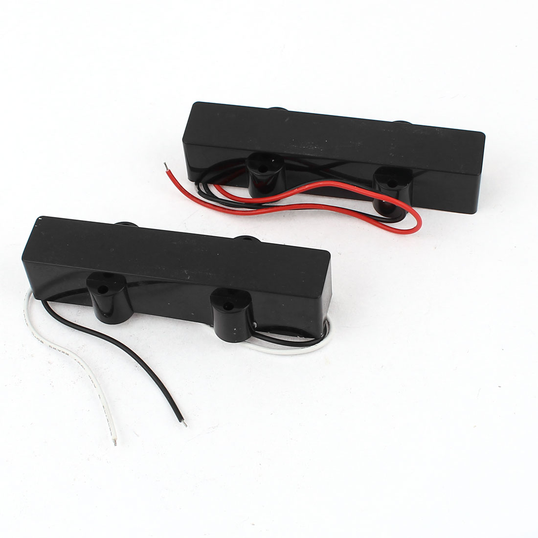 2 Pcs Electric 4 String Jazz Bass JB Sealed Style Pickup Black