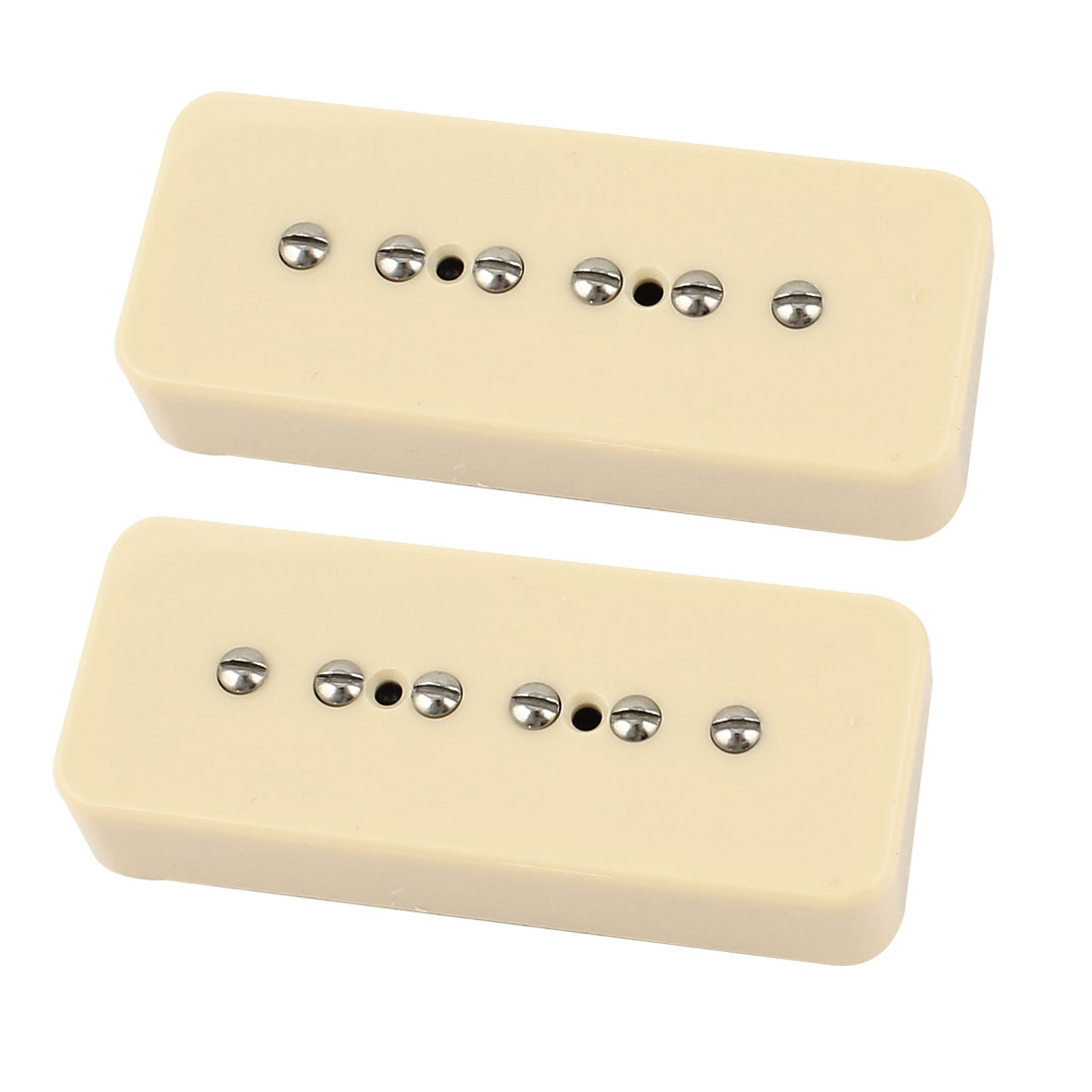 2 Pcs Electric Guitar Pickup Single Coil LP Soap Bar Pick-up Beige