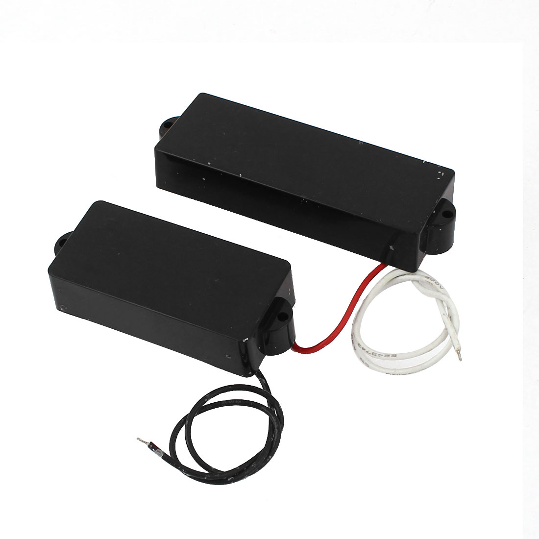 2 Pcs Electric 4 String PB Style Bass Sealed Soap Bar Pickup Black