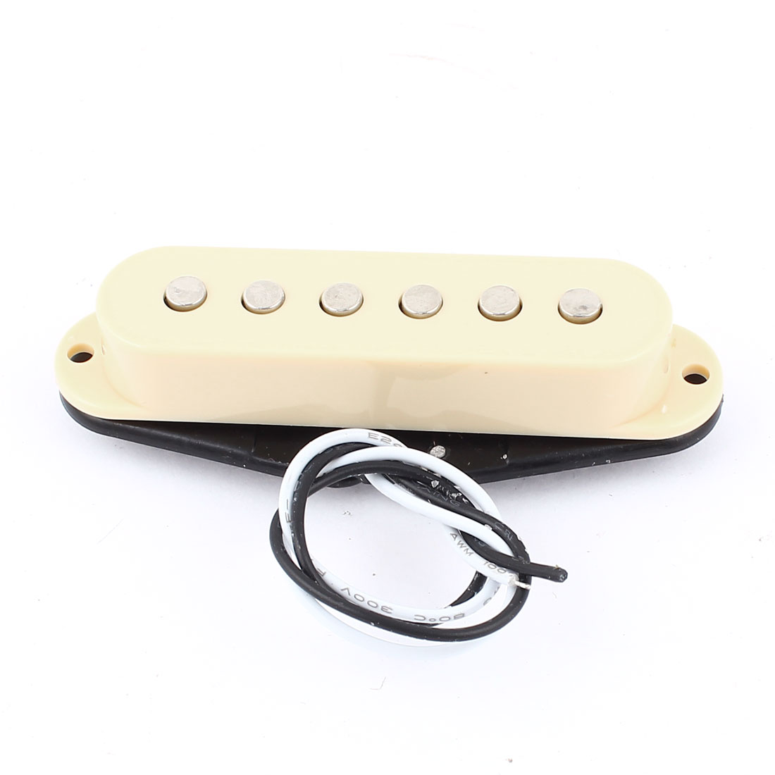 Single Coil 48mm Magnetic Acoustic Electric Guitar Pickup Beige Black