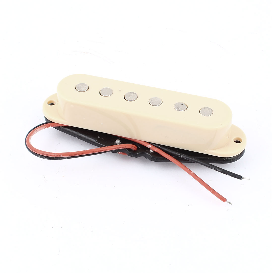 Single Coil 50mm Magnetic Acoustic Electric Guitar Pickup Beige Black